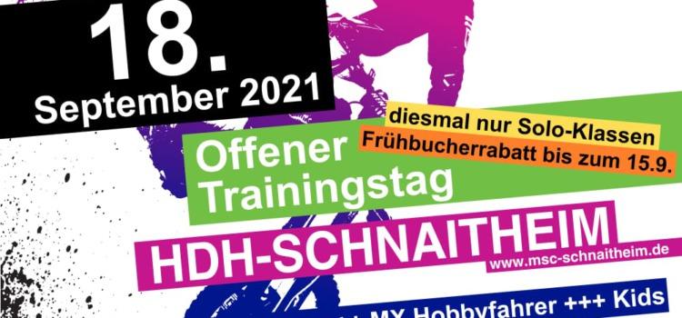Freier Trainingstag am Samstag 18. September – Anmeldung online